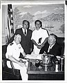 "Captain John D. Chase, Captain of the cruiser ""Boston"" calls on Mayor John F. Collins accompanied by Ensign Anthony Sarno recent graduate of U.S. Naval academy and newphew of City Councillor Frederick A. Langone (13848710144).jpg"