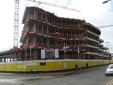 Cardiff and Vale College during construction 2014.JPG