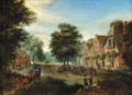 Carel Beschey - Busy village square.png