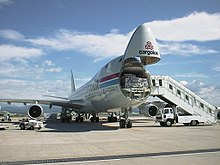 Cargolux 747-400F with the nose loading door open & Boeing 747-400 - Wikipedia pezcame.com