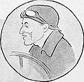 Caricature de Jules Goux, après sa troisième place lors de l'Indy 500 de 1919.jpg