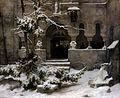 Carl Friedrich Lessing - Klosterhof im Schnee.jpg