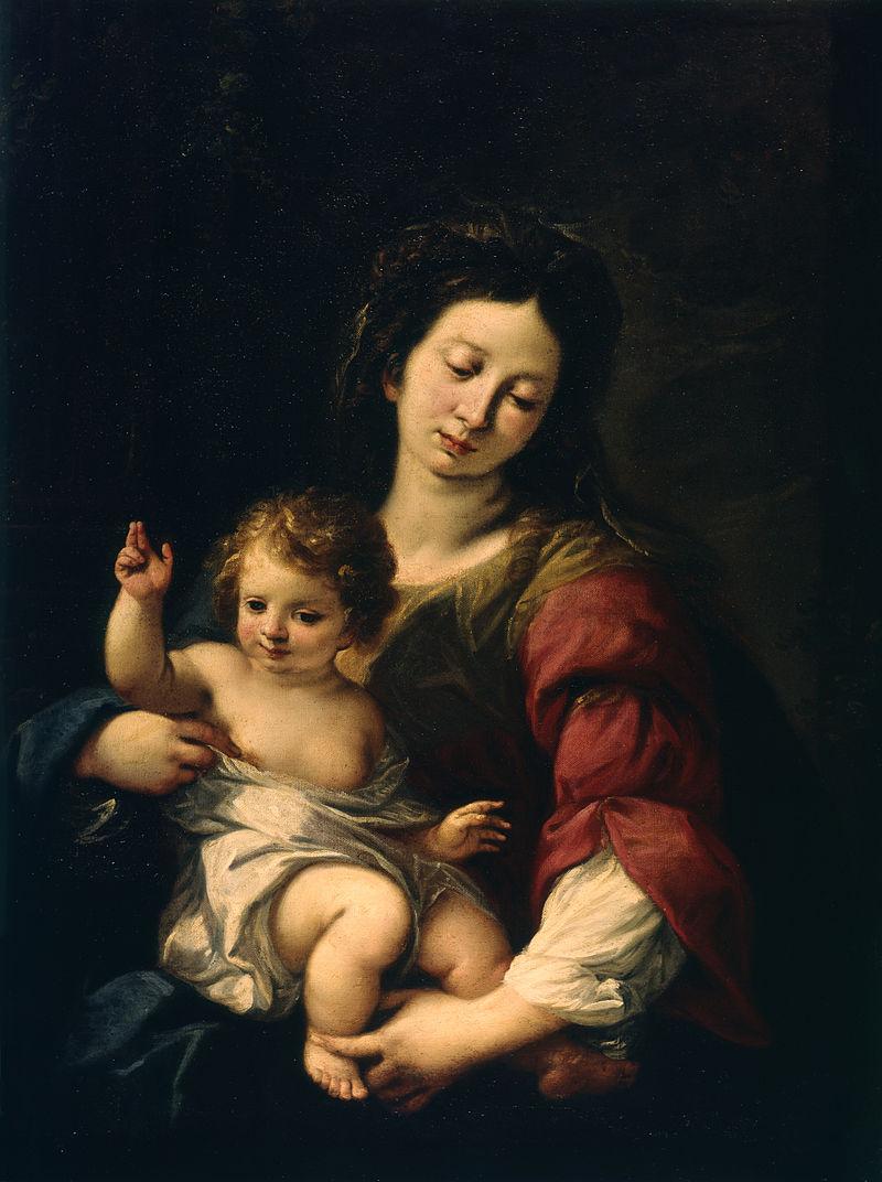 Карло Франческо Нуволоне - Мадонна с младенцем - Уолтерс 37463.jpg