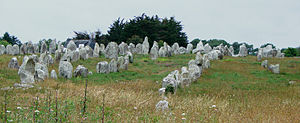 Prehistory of Brittany - The alignments of Carnac, the largest collection of megaliths in the world, demonstrate the organisation of Neolithic culture in Brittany
