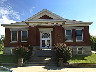 Coffey County, Kansas - Image: Carnegie Free Library, Burlington, Kansas