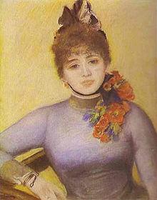 Caroline Rémy en una pintura de Renoir