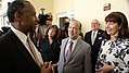 Carrfour CEO Stephanie Berman-Eisenberg, right, welcomes HUD Secretary Ben Carson, left, to Miami supportive housing community.jpg