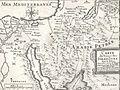 Carte du voïage des Israëlites. xviie siècle.JPG
