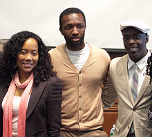 Sohn (left) with The Wire co-stars, Jamie Hector (middle) and Michael K. Williams