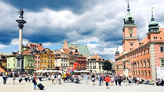 Tourist attractions in Warsaw - The Castle Square