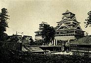 Castle of daimyo in Kumamoto. Before 1902