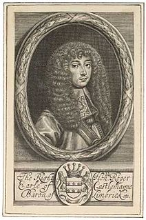 Roger Palmer, 1st Earl of Castlemaine English courtier, diplomat, and politician