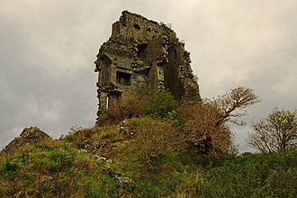 Tubber, County Clare - Derryowen Castle showing part of what remains of the interior