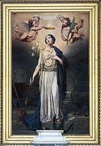 Cathédrale Notre-Dame-de-l'Assomption de Montauban - Couronnement de sainte Philomène - Jules Jolivet PM82000423.jpg