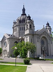 The French Renaissance style Cathedral of St. Paul in the city of St. Paul.