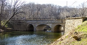 Aqueducts on the C&O Canal - Catoctin Creek, after reconstruction in 2011.