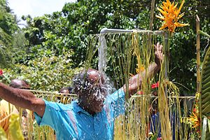 WASH - Celebrating the opening of a water supply project in Isabel Province, Solomon Islands