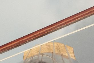 Curved bow - Cello Bow on two strings