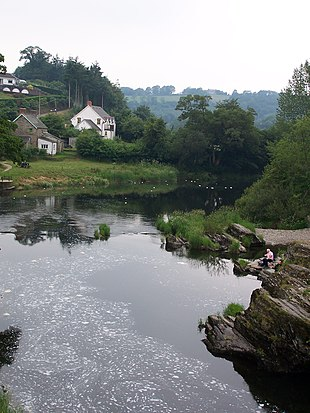 View of River Teifi from Cenarth.