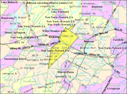 Census Bureau map of Denville, New Jersey