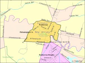 Pemberton, New Jersey - Image: Census Bureau map of Pemberton, New Jersey