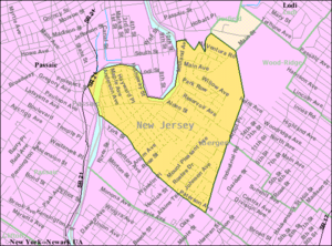 Wallington, New Jersey - Image: Census Bureau map of Wallington, New Jersey