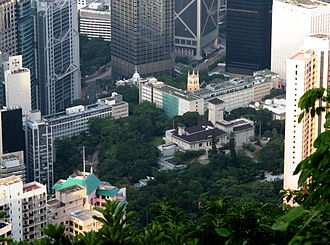 Former Central Government Offices - Central Government Offices Building, view from the Peak