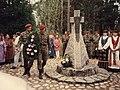 Ceremony at the Memorial to Rainiai massacre 1995.jpg