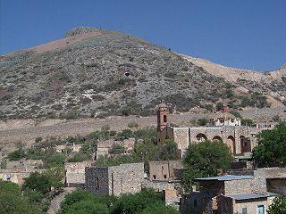Cerro de San Pedro locality in San Luis Potosí, Mexico