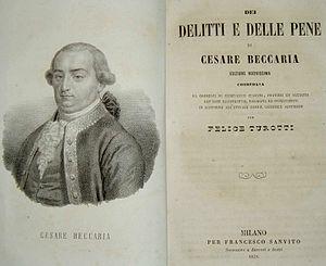 Penology - Cesare Beccaria, Dei delitti e delle pene