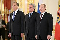 Cesare Maria Ragaglini e Vladimir Putin e Sergei Lavrov.jpeg