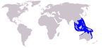 Pacific humpback dolphin range
