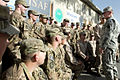 Chairman of the Joint Chiefs of Staff Gen. Martin E. Dempsey, right, talks with a group of soldiers and Marines stationed at the International Security Assistance Force Headquarters at Camp Eggers in Kabul, Afg 130722-D-VO565-027.jpg