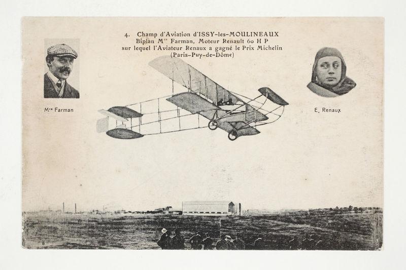 file champ d 39 aviation d 39 issy les moulineaux biplan mce farman sur lequel l 39 aviateur renaux a. Black Bedroom Furniture Sets. Home Design Ideas