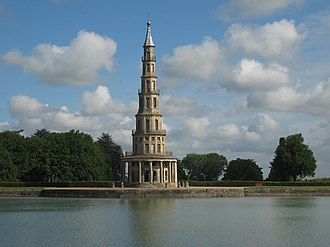 French landscape garden - Chinese pagoda in the gardens of Chanteloup
