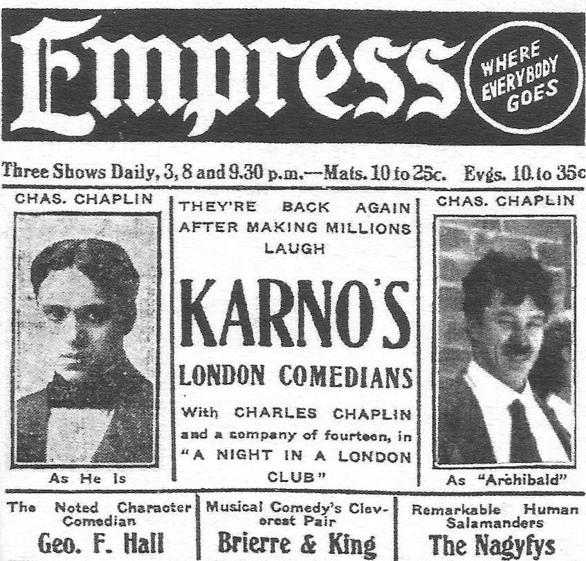 Chaplin Karno advert