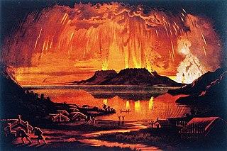 1886 eruption of Mount Tarawera Volcano eruption event in New Zealand