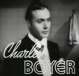 Charles Boyer in de trailer van Tovarich (1937)