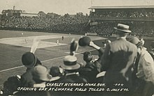 Charley Hickman's Home Run, Opening Day at Swayne Field, Toledo, Ohio, July 3, 1909