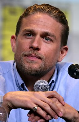 Hunnam at the 2016 San Diego Comic-Con International, to promote King Arthur: Legend of the Sword. Charlie Hunnam by Gage Skidmore 4.jpg