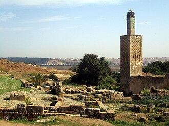 Chellah - Image: Chellah & minaret, Rabat