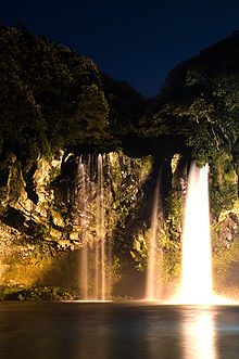 Cheonjiyeon Waterfall at Night.jpg