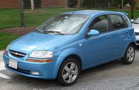 T200: Chevrolet Aveo LT five-door (US)