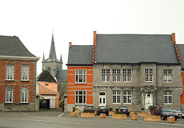 "The ""de Croÿ"" hotel and the St. Martin church."