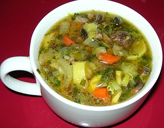 Chicken soup - A chicken vegetable soup