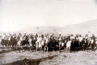 Nez Perce War - Chiefs Joseph, Looking Glass and White Bird in the spring of 1877.