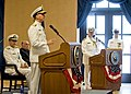 Chief of U.S. Naval Operations Adm. Jonathan Greenert, standing left, speaks during the retirement and change of command ceremony for Vice Adm. Kevin McCoy in Washington, D.C., June 7, 2013 130607-N-ZI511-532.jpg