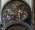 Chiesa di San Zaccaria Venezia - La moglie, la figlia e i parenti di Gilio, profughi da Padova sbarcano nell'isola di Dorsoduro (1684 circa), affresco di Antonio Zonca.jpg