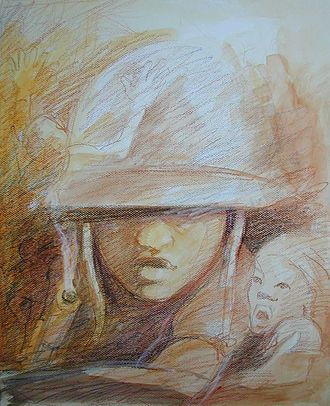 "Children in the military - ""Child Soldier in the Ivory Coast"", Gilbert G. Groud, 2007."