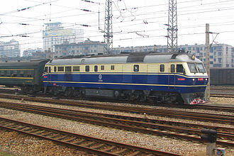 Anhui - Diesel locomotive at Bengbu in northern Anhui
